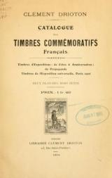 """Cover of """"Catalogue des timbres commémoratifs, français /"""""""