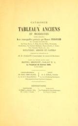 Cover of Catalogue de tableaux anciens et modernes parmi lesquels, deux remarquable portraits par Honore Fragonard et autres ceuvres de- De Troy, Doyen, F.