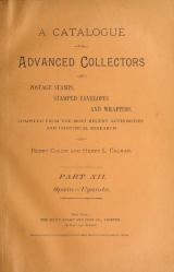 Cover of A catalogue for advanced collectors of postage stamps, stamped envelopes and wrappers pt.12 (1890)