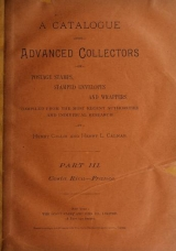 Cover of A catalogue for advanced collectors of postage stamps, stamped envelopes and wrappers pt.3 (1890)