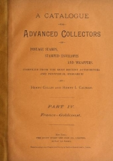 Cover of A catalogue for advanced collectors of postage stamps, stamped envelopes and wrappers pt.4 (1890)