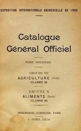 Cover of Catalogue général officiel t. 12