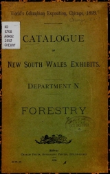 Cover of Catalogue of New South Wales exhibits