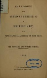Cover of Catalogue of the American exhibition of British art
