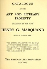 Cover of Catalogue of the art and literary property