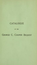 Cover of Catalogue of a collection of engravings and etchings