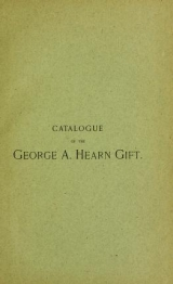 Cover of Catalogue of engravings and etchings presented by George A. Hearn to the Cooper Union Museum for the Arts of Decoration