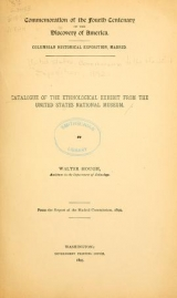 Cover of Catalogue of the ethnological exhibit from the United States National Museum
