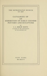 Cover of Catalogue of an exhibition of early Chinese pottery and sculpture