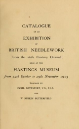 Cover of Catalogue of an exhibition of British needlework from the 16th century onward