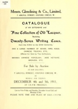 Cover of Catalogue of an extensive and fine collection of old lacquer, including twenty-seven writing cases from the XVIIth to the XIXth centuries, and a large