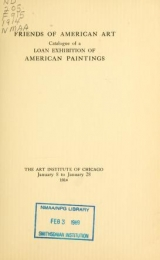 Cover of Catalogue of a loan exhibition of American paintings