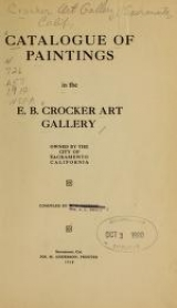 "Cover of ""Catalogue of paintings in the E. B. Crocker Art Gallery /"""