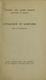 Cover of Catalogue of samplers, with 16 illustrations