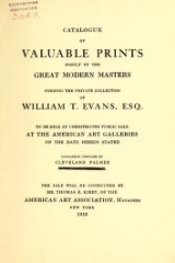 Cover of Catalogue of valuable prints mostly by the great modern masters