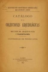 Cover of Catálogo de las colecciones arqueológicas