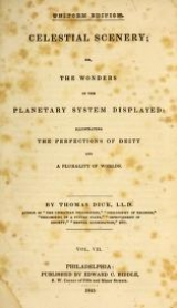Cover of Celestial scenery, or, The Wonders of the planetary system displayed