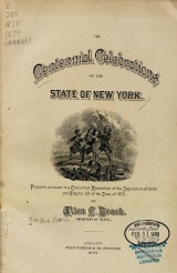 Cover of The centennial celebrations of the state of New York