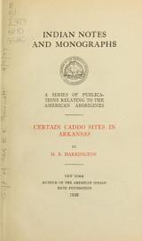 Cover of Certain Caddo sites in Arkansas