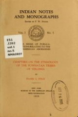 Cover of Chapters on the ethnology of the Powhatan tribes of Virginia