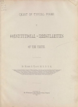 Cover of Chart of typical forms of constitutional irregularities of the teeth