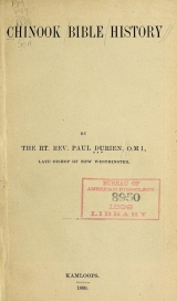 Cover of Chinook Bible history