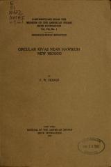 Cover of Circular kivas near Hawikuh, New Mexico