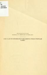 Cover of Circular of information regarding Indian popular names