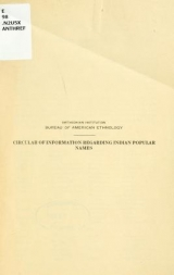 "Cover of ""Circular of information regarding Indian popular names"""