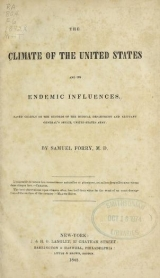 Cover of The climate of the United States and its endemic influences