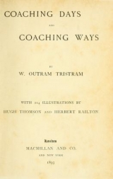 Cover of Coaching days and coaching ways