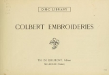 Cover of Colbert embroideries