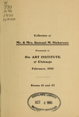 Cover of Collection of Mr. & Mrs. Samuel M. Nickerson
