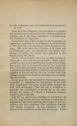 Cover of To the Committee for the International Exposition of 1892