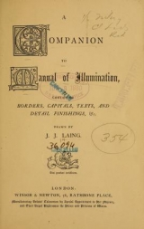 Cover of A companion to Manual of illumination