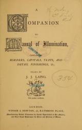 Cover of A companion to Manual of illumination