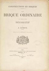 """Cover of """"Constructions en briques"""""""
