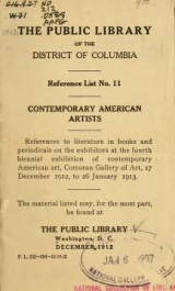 Cover of Contemporary American painters