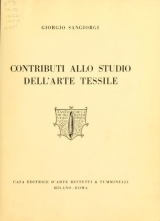 Cover of Contributi allo studio dell'arte tessile