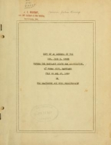 Cover of Copy of an address by the Hon. John K. Cowen before the Maryland State Bar Association