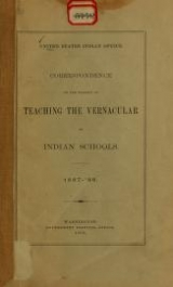 Cover of Correspondence on the subject of teaching the vernacular in Indian schools