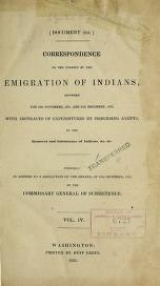 Cover of Correspondence on the subject of the emigration of Indians v.4 (1835)