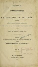 Cover of Correspondence on the subject of the emigration of Indians
