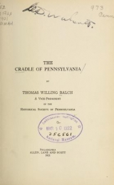 Cover of The cradle of Pennsylvania