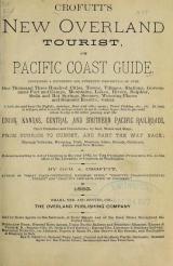 Cover of Crofutt's new Overland tourist, and Pacific Coast guide
