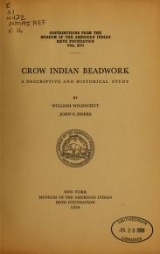 Cover of Crow Indian beadwork