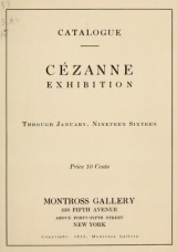 Cover of Cézanne exhibition