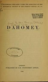 Cover of Dahomey
