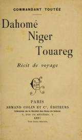 Cover of Dahomé, Niger, Touareg