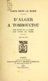 Cover of D'Alger à Tombouctou